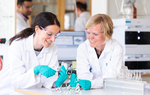 Laboratory female technicians