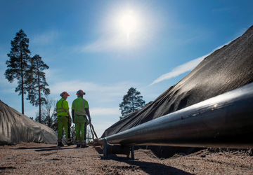 High voltage underground cable installation in Sweden