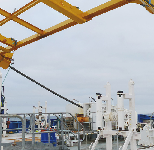 Cable laying vessel NKT Victoria during installation work